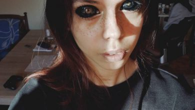 Photo of Influencer queda ciega tras tatuarse la retina de sus ojos de negro