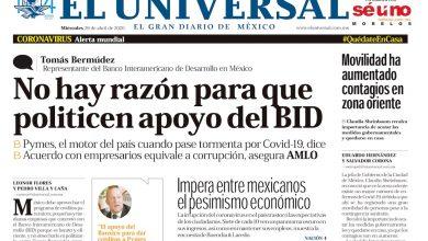Photo of 🚨⚡️ #Portada_nacional No hay razón para que politicen apoyo del BID #El_Universal