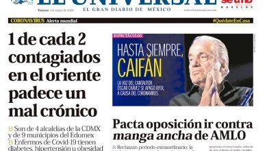 Photo of ⚡️🚨 #Portada_Nacional 1 de cada 2 contagiados en el oriente padece un mal crónico #CDMX  #El_Universal
