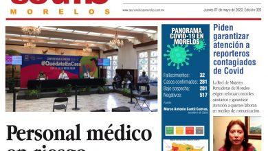 Photo of ⚡️🚨 #Portada_Morelos Personal médico en riesgo #El_Universal