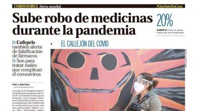 Photo of 🚨⚡️  #Portada_Nacional Sube robo de medicinas durante la pandemia #El_Universal 🚨⚡️