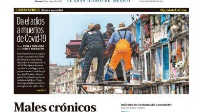 Photo of 🚨⚡️#Portada_Nacional Males crónicos triplican letalidad  del coronavirus #El_Universal  🏥