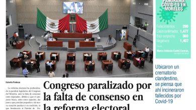 Photo of 🚨⚡️ #Portada_Morelos Congreso paralizado por la falta de consenso en la reforma electoral #El_Universal 🚨⚡️