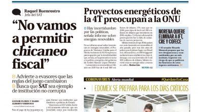 Photo of 🚨⚡️ #Portada_Nacional Proyectos energéticos de la 4T preocupan a la #ONU  #El_Universal 🚨⚡️
