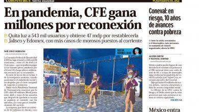 Photo of 🚨⚡️ #Portada_Nacional En pandemia, CFE gana millones por reconexión #El_Universal 🚨⚡️🏥