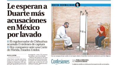 Photo of 🚨⚡️ #Portada_Nacional Le esperan a Duarte más acusaciones en #México por lavado #El_Universal 🚨⚡️