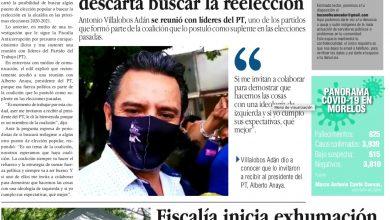 Photo of 🚨⚡️  #Portada_Morelos Alcalde de #Cuernavaca no descarta buscar la reelección #El_Universal 🚨⚡️