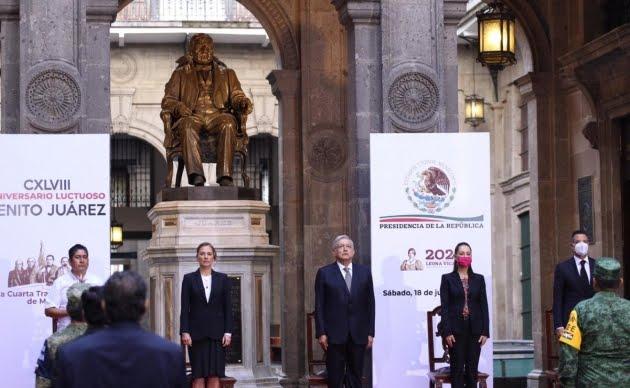 Photo of Ceremonia por el 148 aniversario luctuoso de Benito Juárez