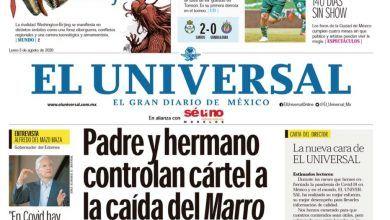 Photo of 🚨⚡️ #Portada_Nacional Padre y hermano controlan cártel a la caída del Marro #El_Universal  🚨⚡️