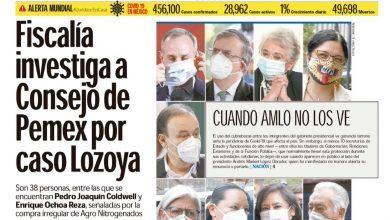 Photo of 🚨⚡️ #Portada_Nacional Fiscalía investiga a Consejo de Pemex por caso Lozoya #El_Universal 🚨⚡️