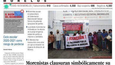 Photo of 🚨⚡️ #Portada_Morelos Morenistas clausuran simbólicamente su propia dirigencia estatal e inician plantón #El_Universal 🚨⚡️