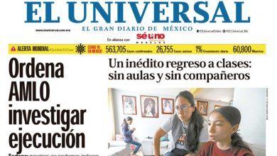 Photo of 🚨⚡️ #Portada_Nacional Ordena #AMLO investigar ejecución #El_Universal  🚨⚡️