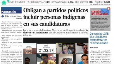 Photo of 🚨⚡️ #Portada_Morelos Obligan a partidos políticos incluir personas indígenas en sus candidaturas #El_Universal 🚨⚡️