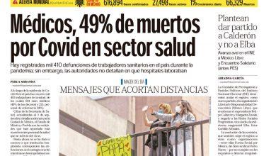 Photo of 🚨⚡️ #Portada_Nacional Médicos, 49% de muertos por Covid en sector salud #El_Universal 🚨⚡️