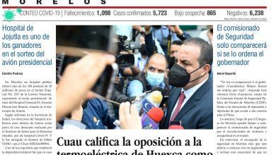 """Photo of 🚨⚡️#Portada_Morelos Cuau califica la oposición a la termoeléctrica de Huexca como """"intromisión de politiquillos""""  #EL_Universal 🚨⚡️"""