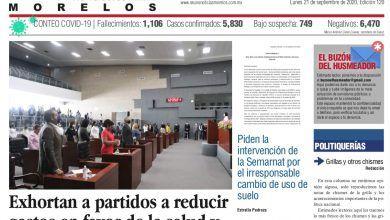 Photo of 🚨⚡️ #Portada_Morelos Exhortan a partidos a reducir gastos en favor de la salud y el desarrollo económico #El_Universal 🚨⚡️