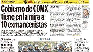 Photo of 🚨⚡️ #Portada_Nacional Gobierno de #CDMX tiene en la mira a 10 exmanceristas #El_Universal 🚨⚡️