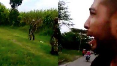 Photo of #Video ¡Me mataron a Juliana!': Hombre transmite en vivo asesinato de su esposa por el Ejército