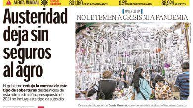 Photo of 🚨⚡️ #Portada_Nacional NO LE TEMEN A #CRISIS NI A #PANDEMIA #El_Universal 🚨⚡️