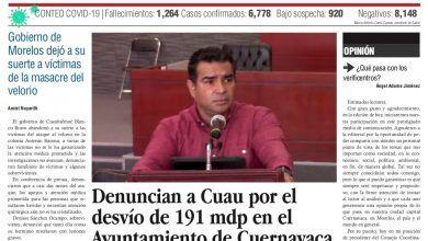 Photo of 🚨⚡️ #Portada_Morelos Denuncian a Cuau por el desvío de 191 mdp en el Ayuntamiento de #Cuernavaca #El_Universal 🚨⚡️