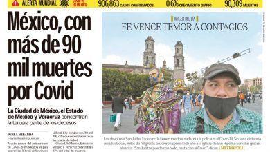 Photo of 🚨⚡️ #Portada_Nacional México, con más de 90 mil muertes por Covid #El_Universal 🚨⚡️