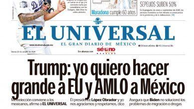 Photo of 🚨⚡️ #Portada_Nacional #Trump : yo quiero hacer grande a #EU y #AMLO a #México #El_Universal 🚨⚡️