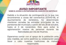 Photo of Mantendrán cerrados panteones en Día de Muertos en Jantetelco