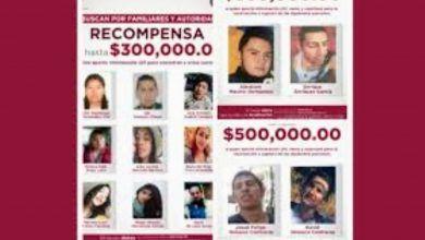 Photo of Ofrecen hasta 300 mil pesos por información de 9 desaparecidos